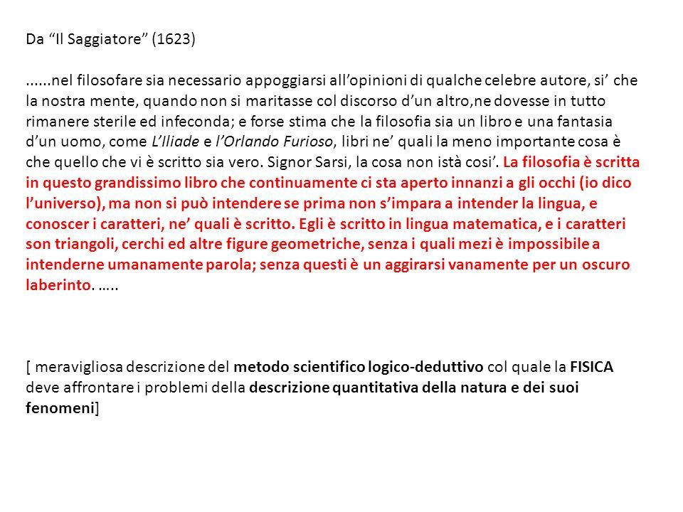 Da Il Saggiatore (1623)
