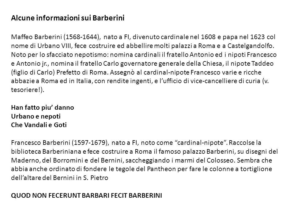 Alcune informazioni sui Barberini