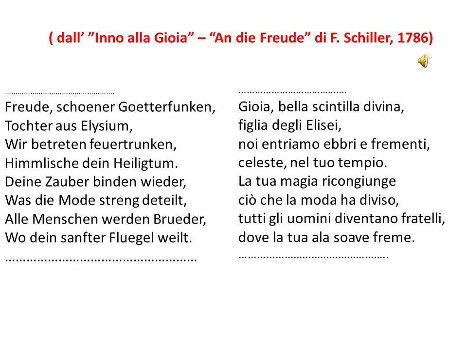 ( dall' Inno alla Gioia – An die Freude di F. Schiller, 1786)