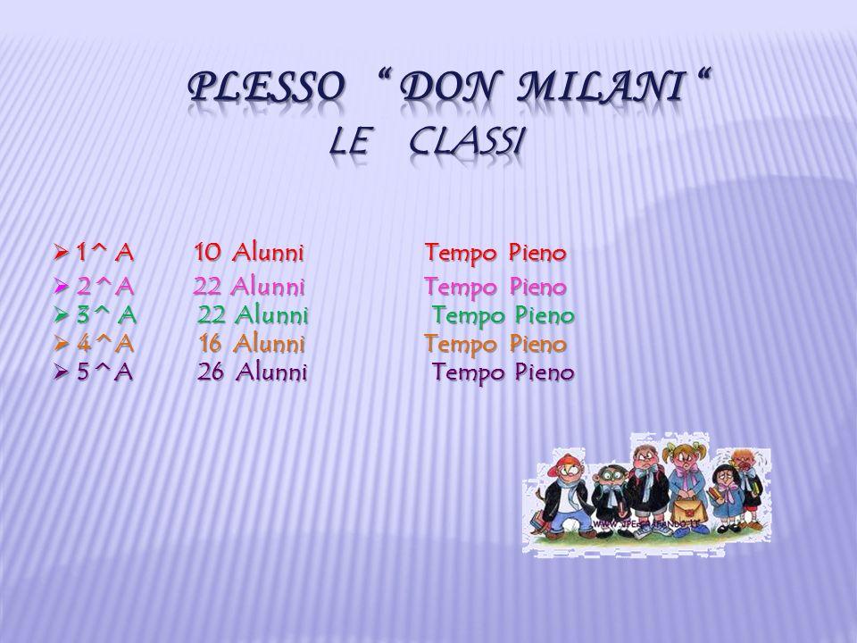 Plesso Don MILANI Le classi