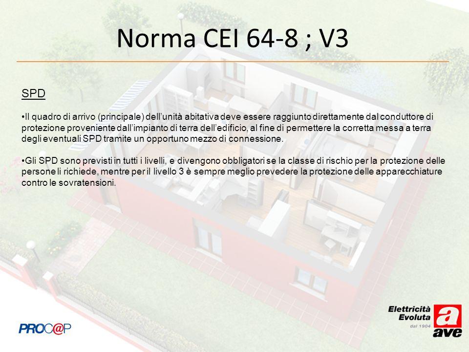 Norma CEI 64-8 ; V3SPD.