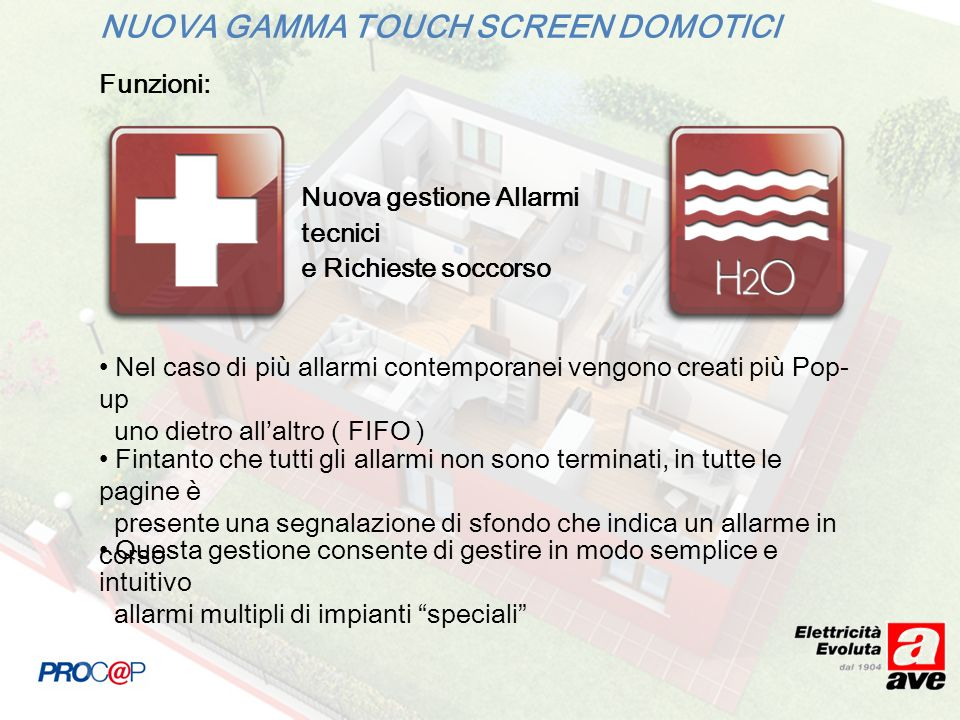 NUOVA GAMMA TOUCH SCREEN DOMOTICI