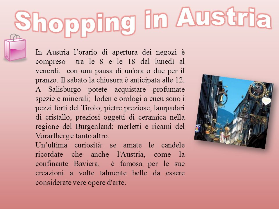 Shopping in Austria