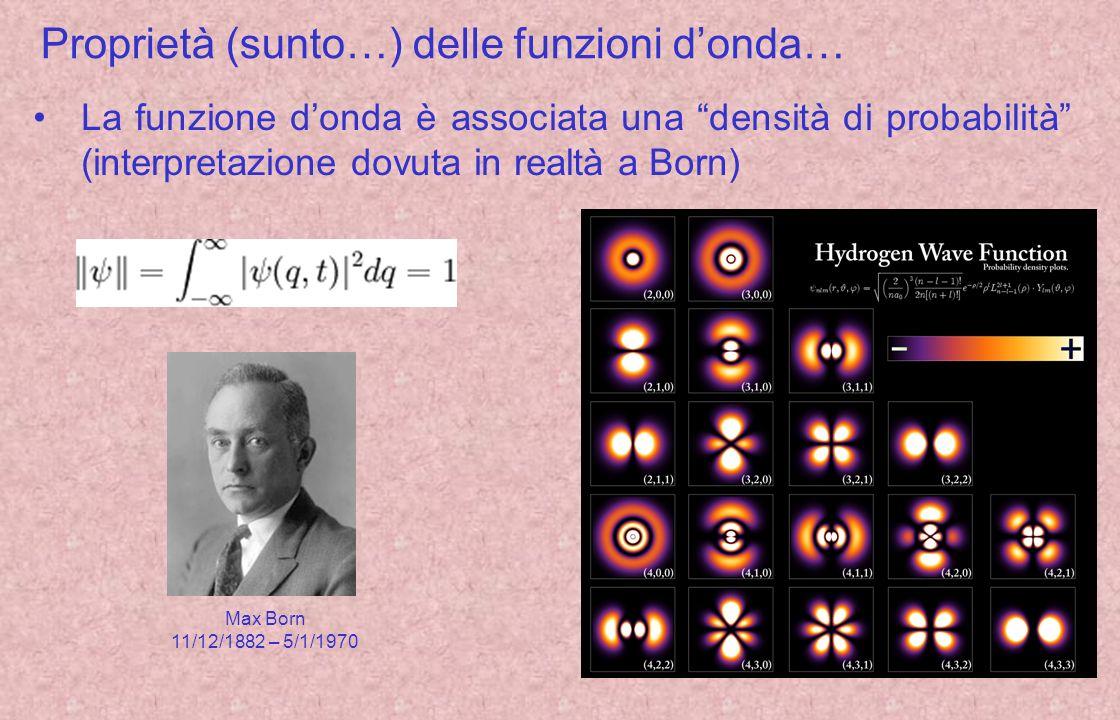 Proprietà (sunto…) delle funzioni d'onda…