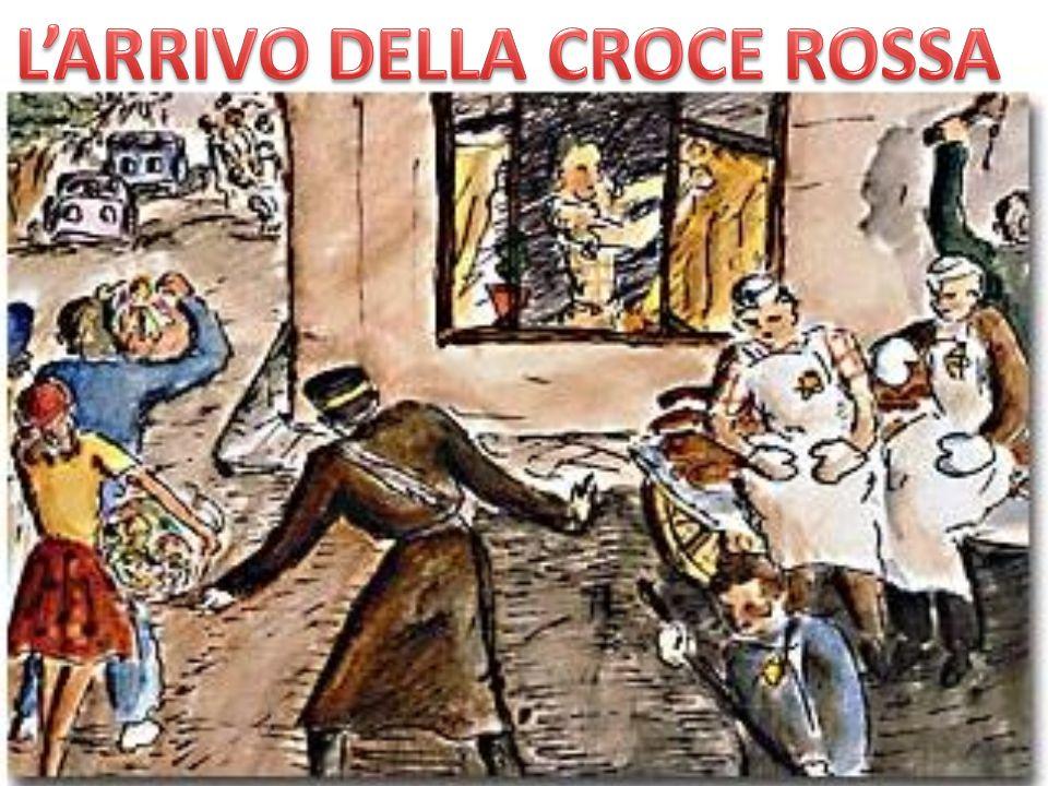 L'ARRIVO DELLA CROCE ROSSA