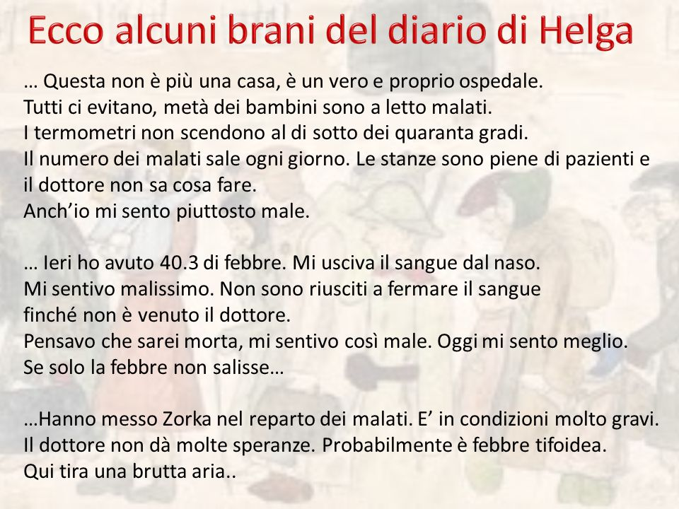 Ecco alcuni brani del diario di Helga