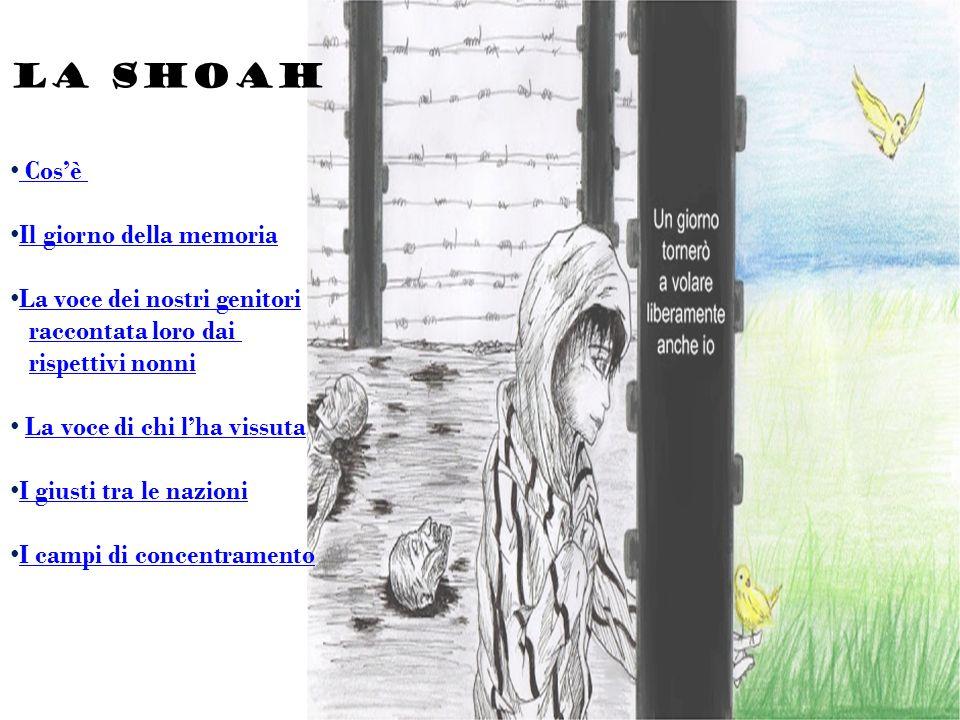 LA SHOAH Cos'è Il giorno della memoria La voce dei nostri genitori