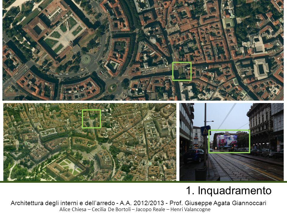 1. Inquadramento Architettura degli interni e dell'arredo - A.A. 2012/2013 - Prof. Giuseppe Agata Giannoccari.