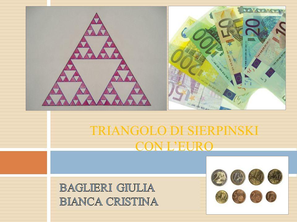 Triangolo di SierpinskI con l'euro