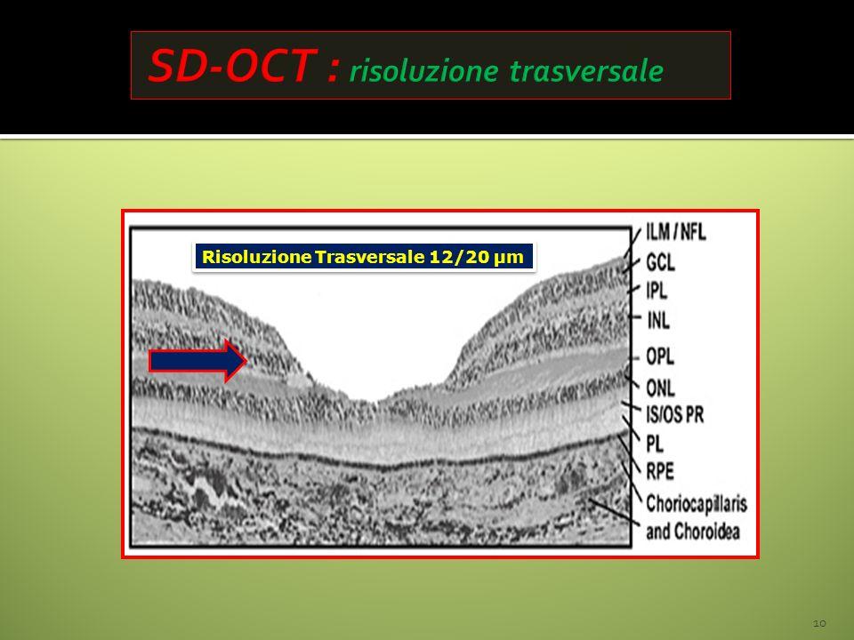 SD-OCT : risoluzione trasversale