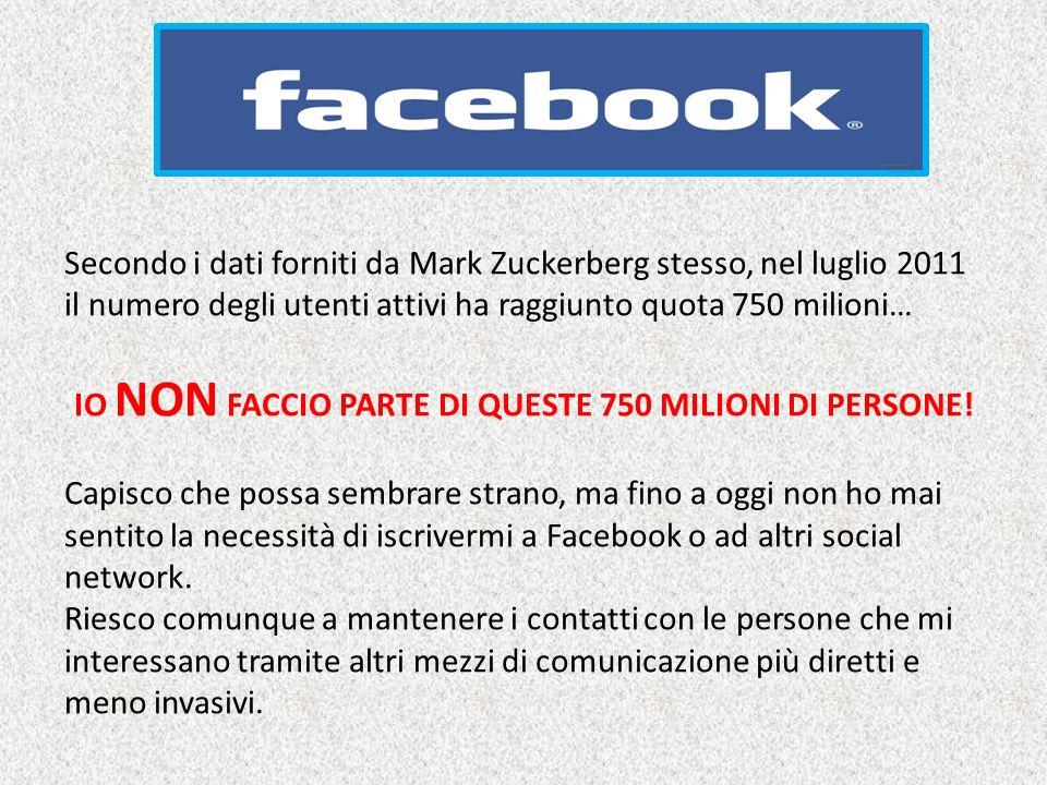 IO NON FACCIO PARTE DI QUESTE 750 MILIONI DI PERSONE!