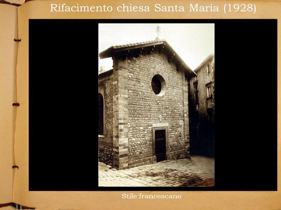 Rifacimento chiesa Santa Maria (1928)