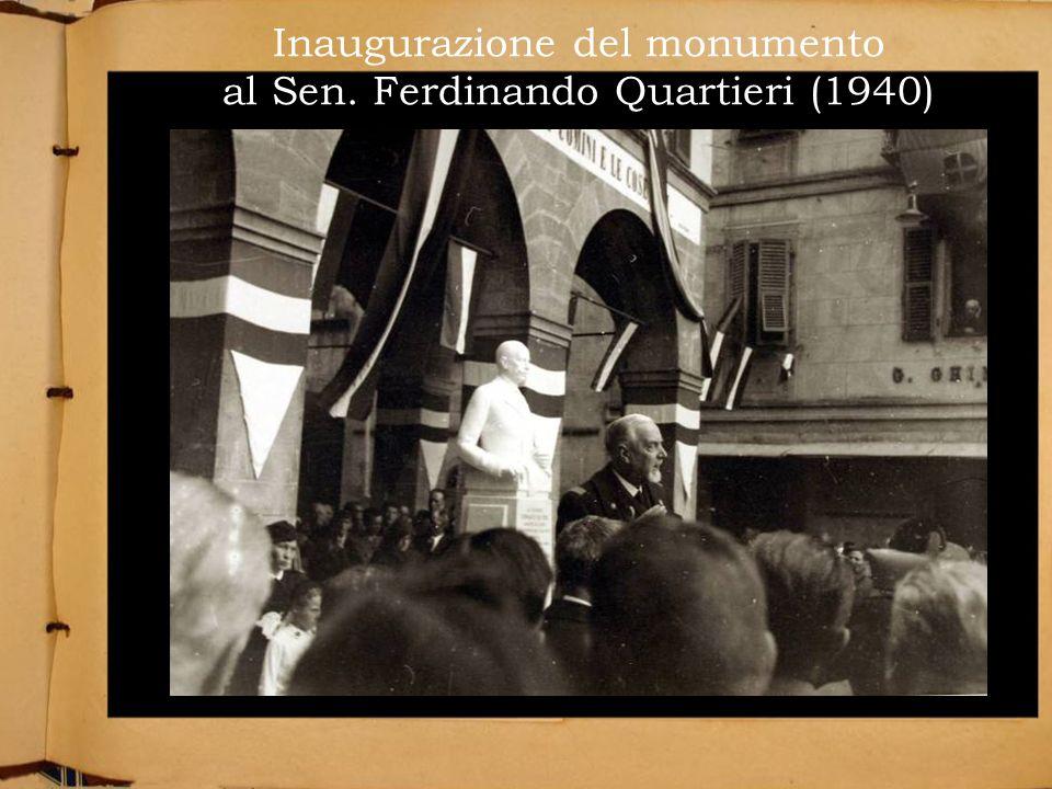 Inaugurazione del monumento al Sen. Ferdinando Quartieri (1940)