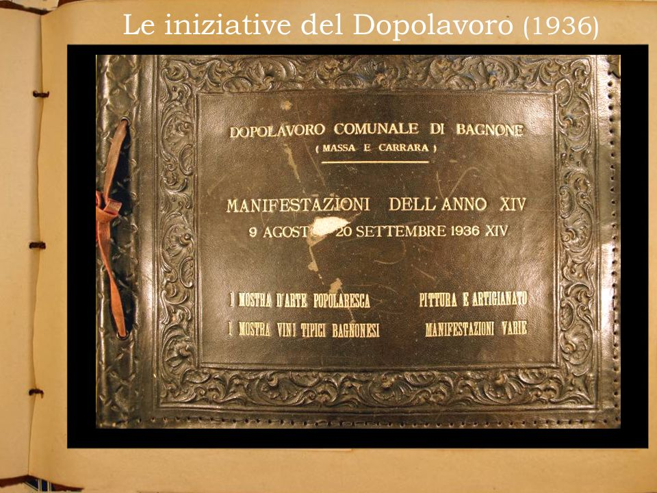 Le iniziative del Dopolavoro (1936)