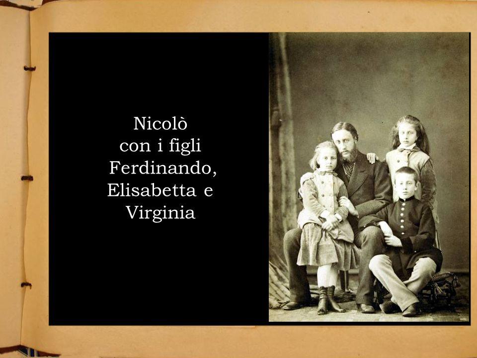 Nicolò con i figli Ferdinando, Elisabetta e Virginia