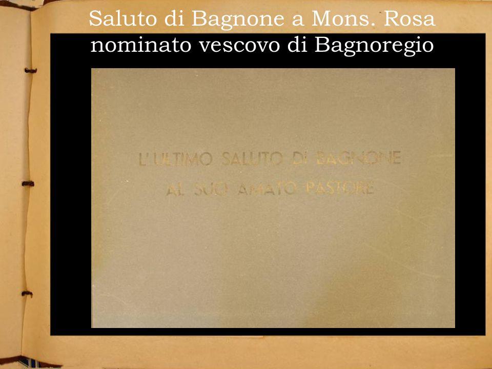 Saluto di Bagnone a Mons. Rosa nominato vescovo di Bagnoregio