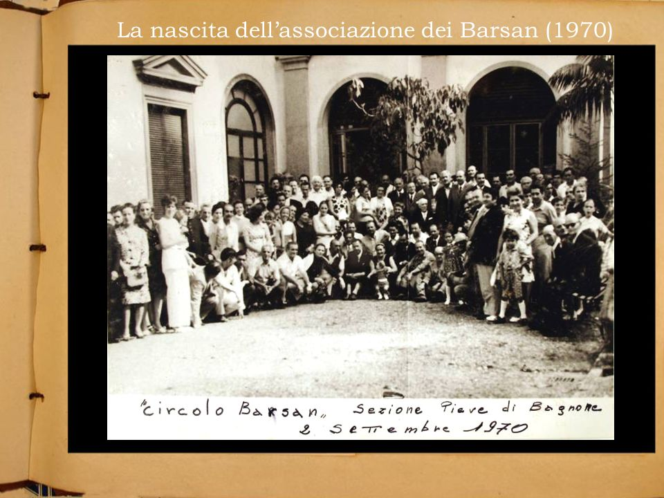 La nascita dell'associazione dei Barsan (1970)