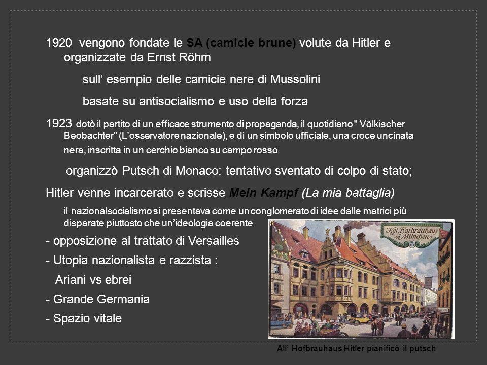sull' esempio delle camicie nere di Mussolini