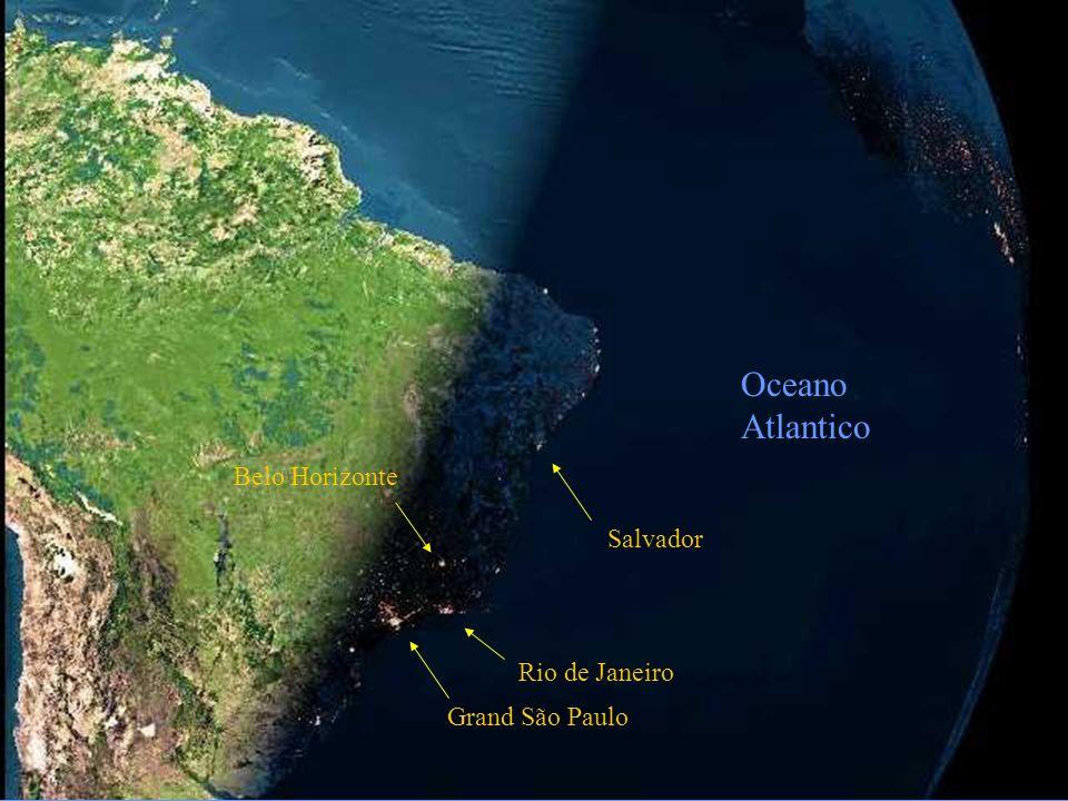 Oceano Atlantico Belo Horizonte Salvador Rio de Janeiro