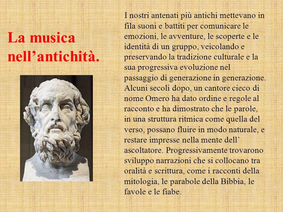 La musica nell'antichità.