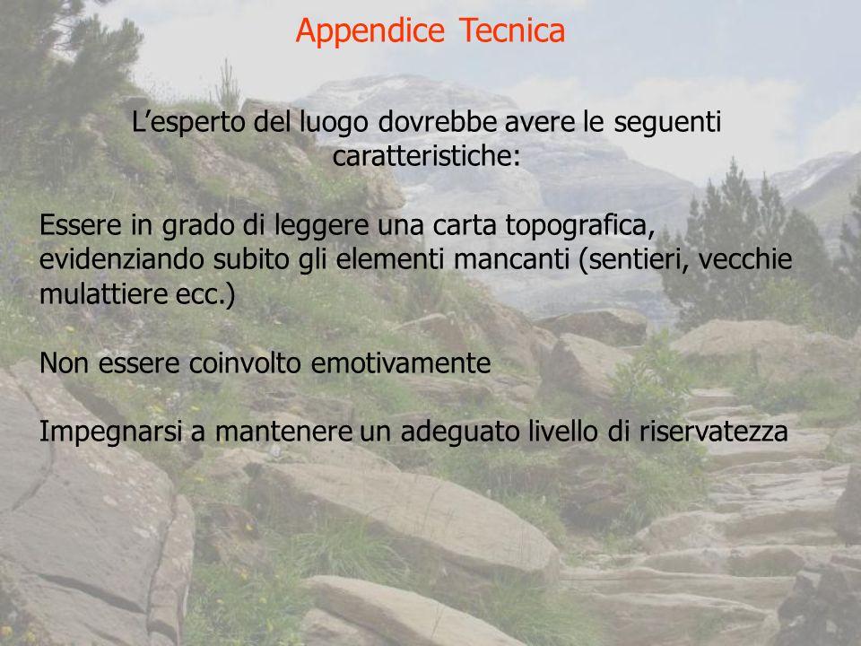L'esperto del luogo dovrebbe avere le seguenti caratteristiche: