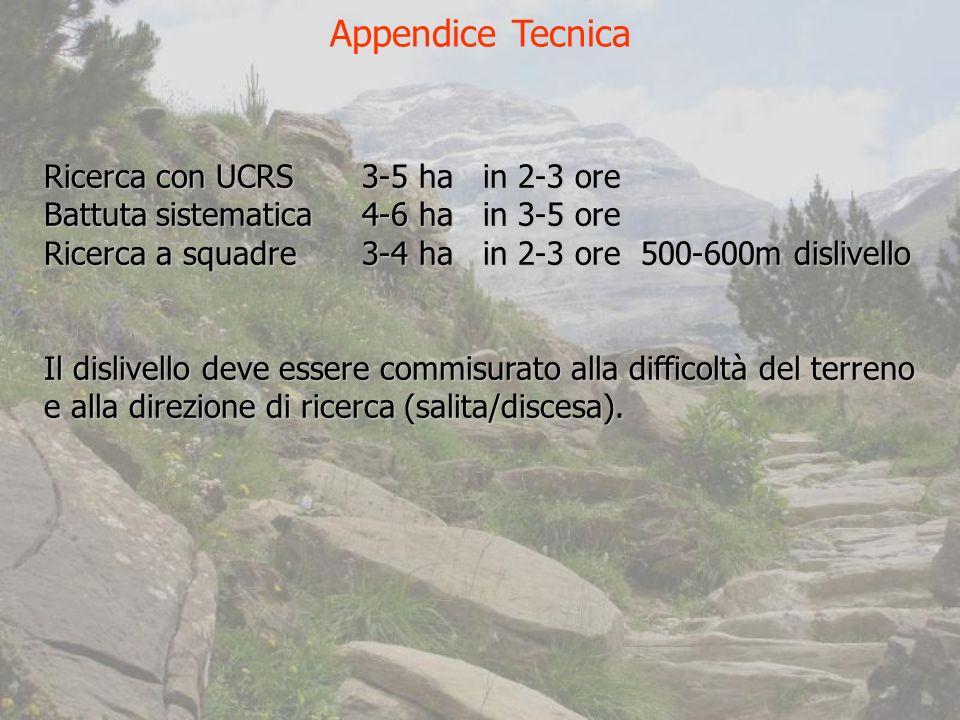 Appendice Tecnica Ricerca con UCRS 3-5 ha in 2-3 ore