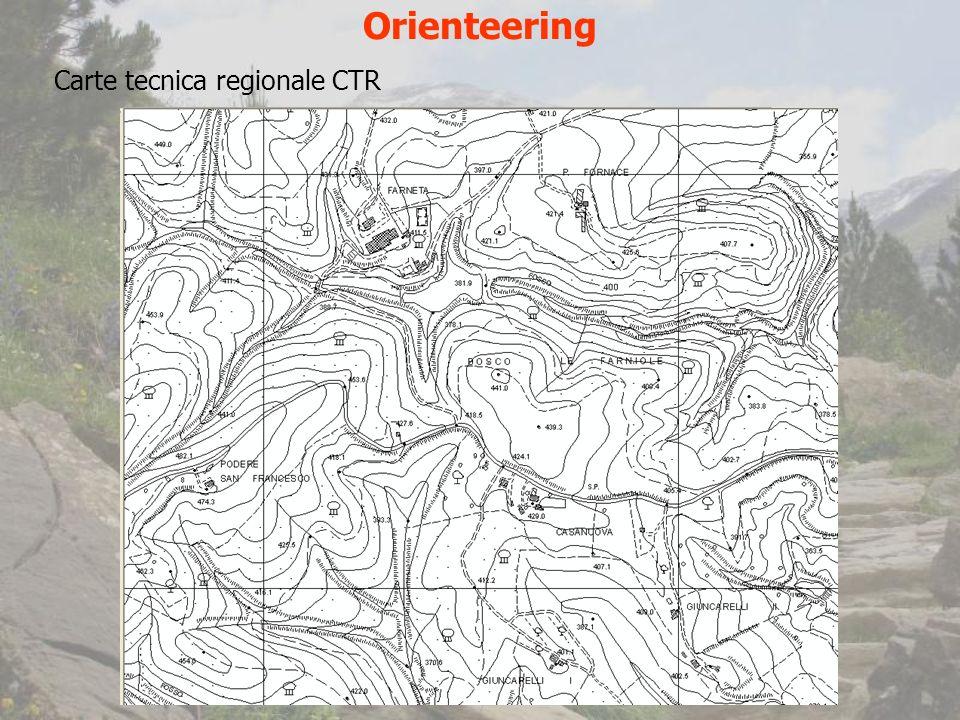 Orienteering Carte tecnica regionale CTR