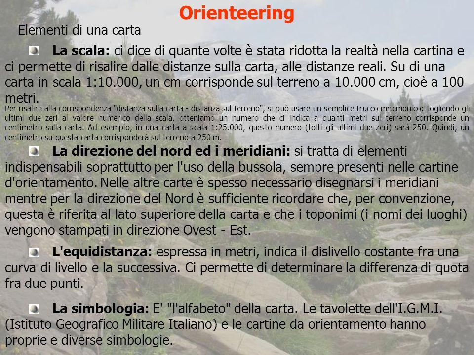 Orienteering Elementi di una carta