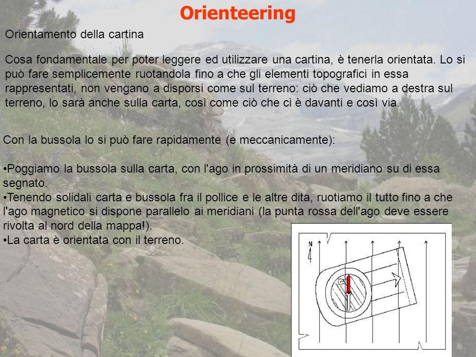 Orienteering Orientamento della cartina