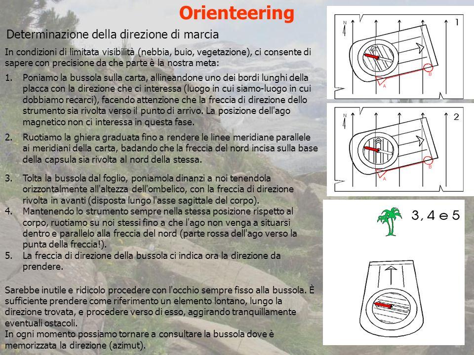 Orienteering Determinazione della direzione di marcia