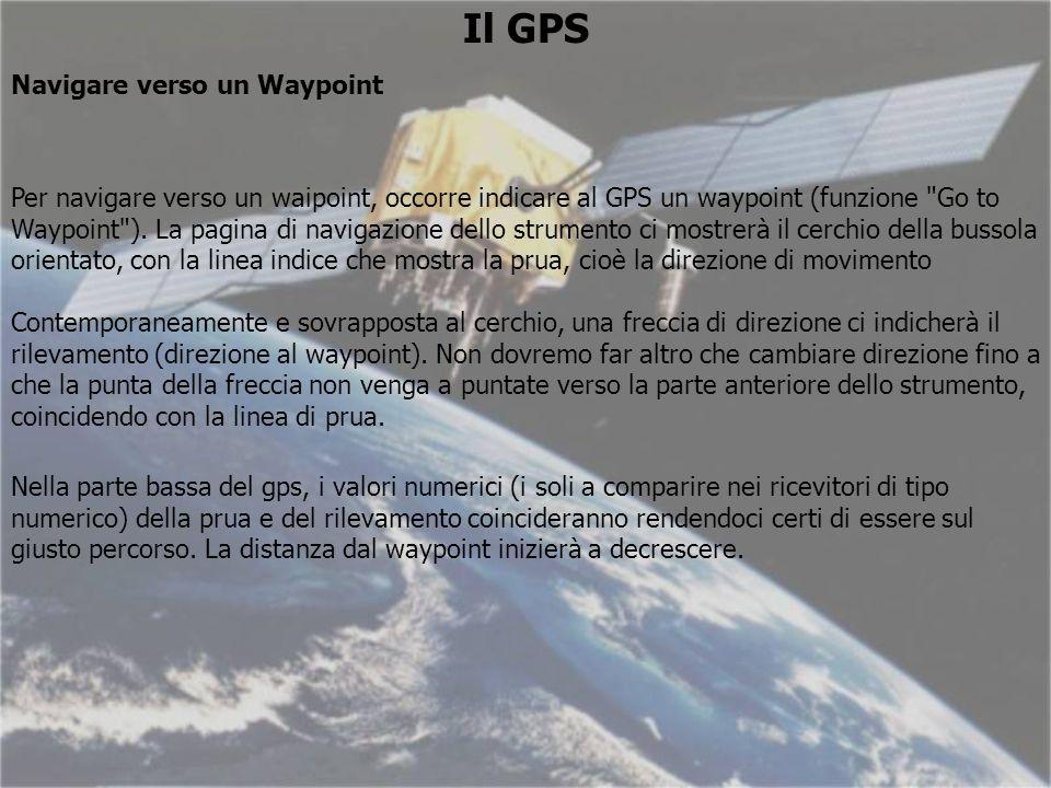 Il GPS Navigare verso un Waypoint