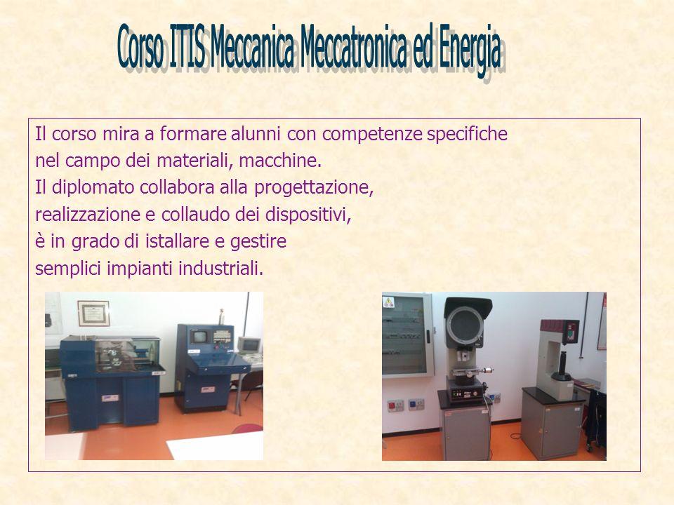 Corso ITIS Meccanica Meccatronica ed Energia