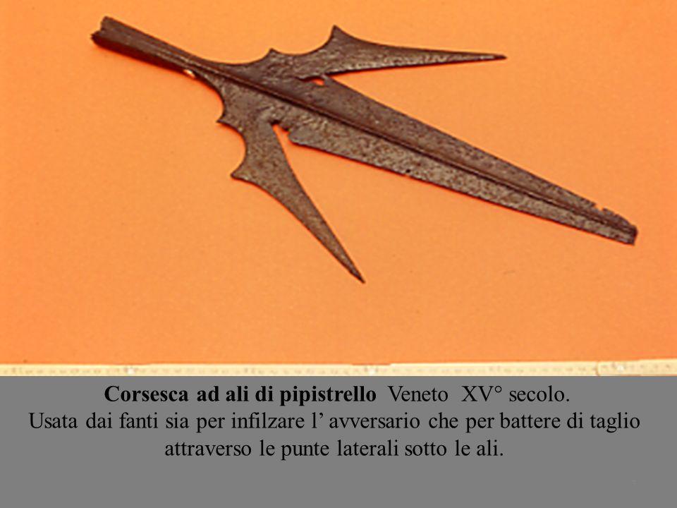 Corsesca ad ali di pipistrello Veneto XV° secolo.