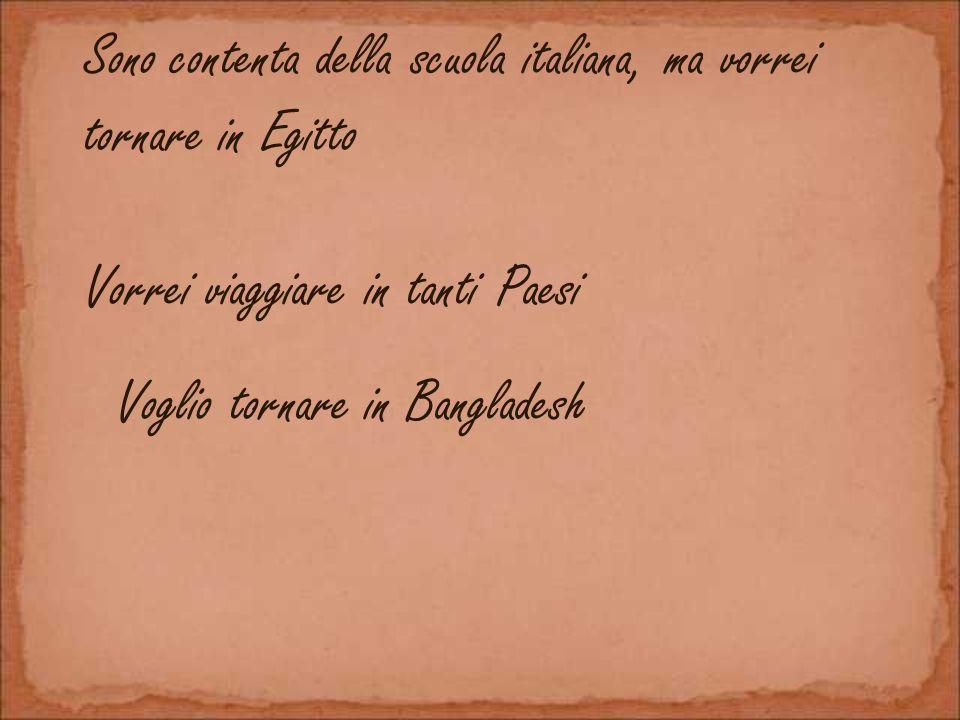 Sono contenta della scuola italiana, ma vorrei tornare in Egitto