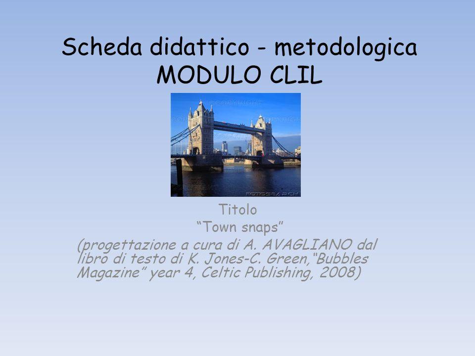 Scheda didattico - metodologica MODULO CLIL