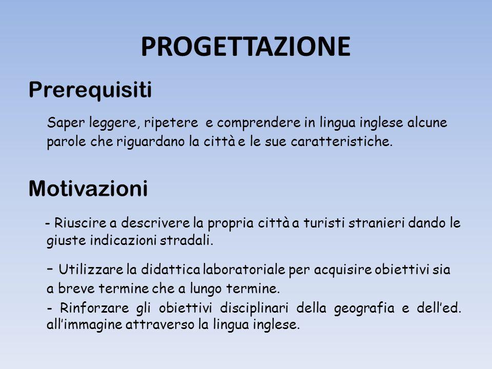 PROGETTAZIONE Prerequisiti