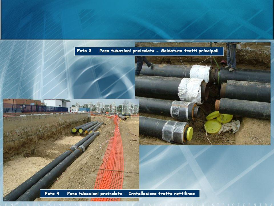 Foto 3 Posa tubazioni preisolate - Saldatura tratti principali