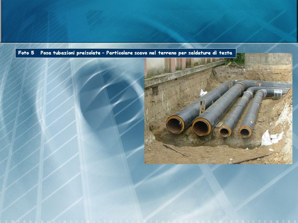 Foto 5 Posa tubazioni preisolate – Particolare scavo nel terreno per saldature di testa