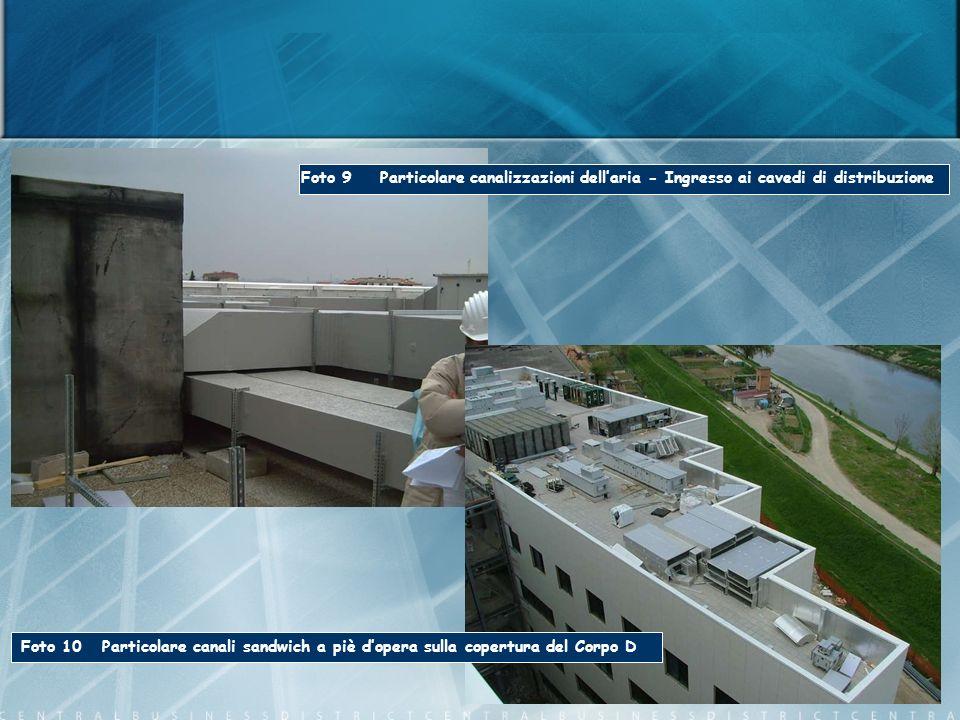 Foto 9 Particolare canalizzazioni dell'aria - Ingresso ai cavedi di distribuzione
