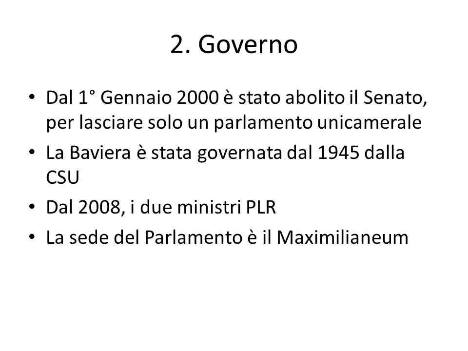 2. Governo Dal 1° Gennaio 2000 è stato abolito il Senato, per lasciare solo un parlamento unicamerale.