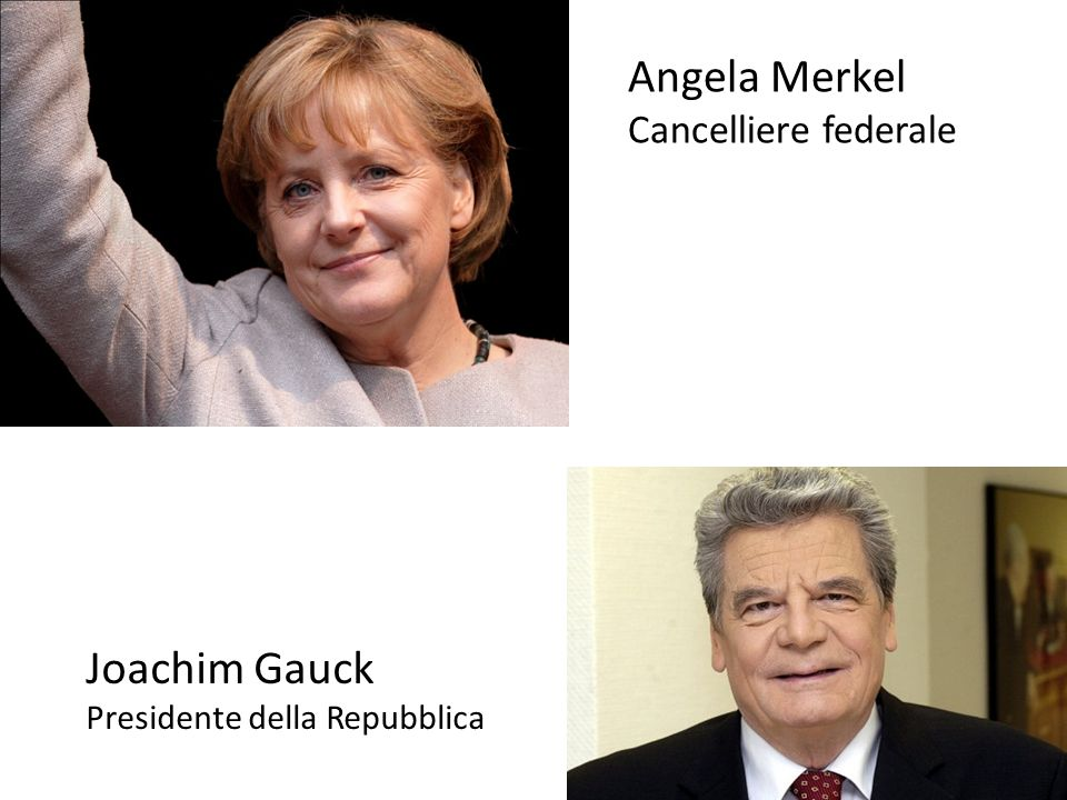 Angela Merkel Joachim Gauck Cancelliere federale