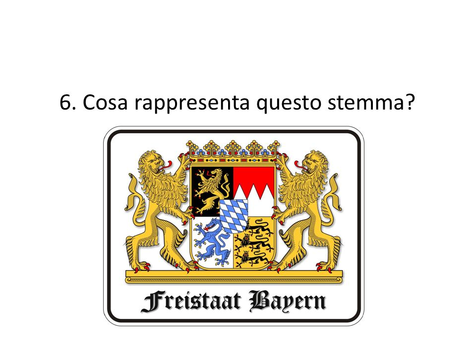 6. Cosa rappresenta questo stemma