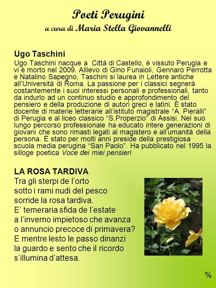 Poeti Perugini a cura di Maria Stella Giovannelli