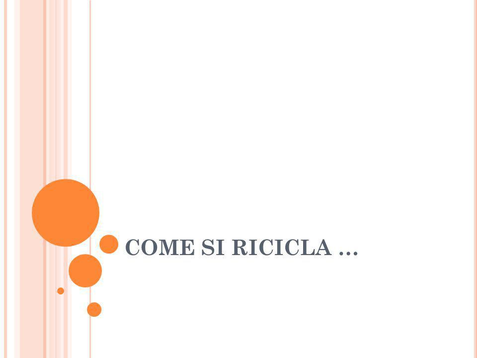COME SI RICICLA …