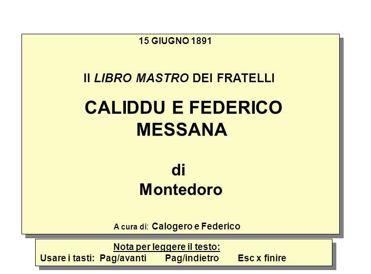CALIDDU E FEDERICO MESSANA di Montedoro