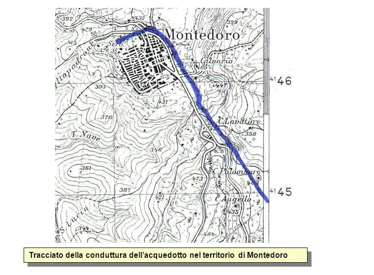 Tracciato della conduttura dell'acquedotto nel territorio di Montedoro