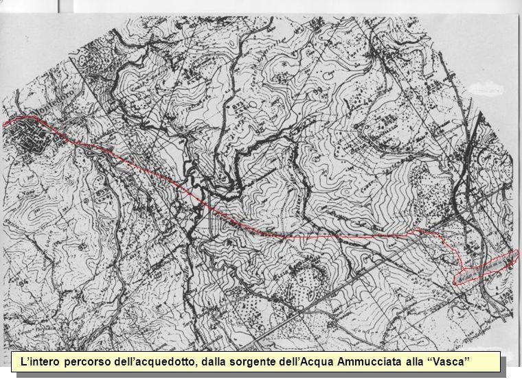 L'intero percorso dell'acquedotto, dalla sorgente dell'Acqua Ammucciata alla Vasca