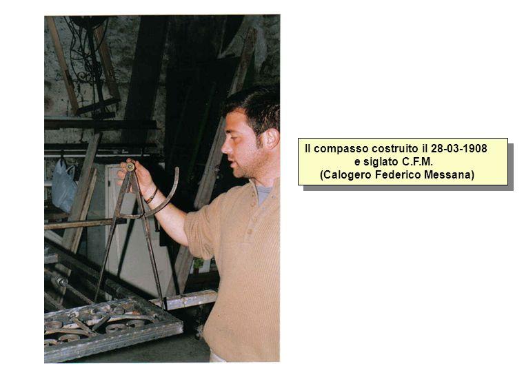 Il compasso costruito il 28-03-1908 e siglato C. F. M