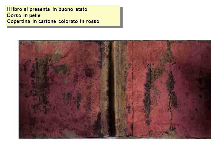 Il libro si presenta in buono stato Dorso in pelle Copertina in cartone colorato in rosso
