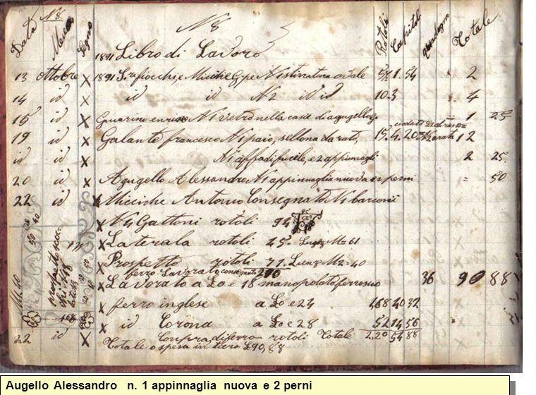 Augello Alessandro n. 1 appinnaglia nuova e 2 perni